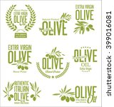 collections of olive oil labels | Shutterstock .eps vector #399016081