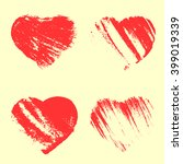 vector heart set | Shutterstock .eps vector #399019339