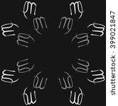 circular pattern of zodiac... | Shutterstock . vector #399021847