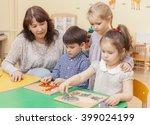 elementary school teacher... | Shutterstock . vector #399024199