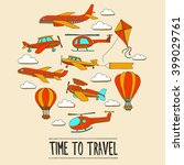 doodle set of images time to... | Shutterstock .eps vector #399029761