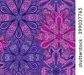 vector boho chic flower... | Shutterstock .eps vector #399037765