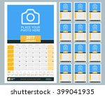 wall monthly calendar for 2017... | Shutterstock .eps vector #399041935