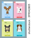 Animal Banner With Dogs For We...