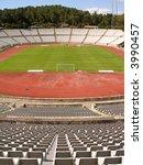 empty soccer stadium   view...   Shutterstock . vector #3990457