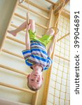 kid playing sports on the... | Shutterstock . vector #399046891