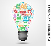 idea concept for internet... | Shutterstock .eps vector #399050161