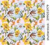 vector seamless floral pattern. ... | Shutterstock .eps vector #399051979