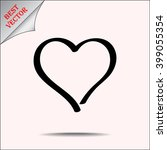 heart sign icon  vector... | Shutterstock .eps vector #399055354