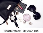 top view of female accessories... | Shutterstock . vector #399064105