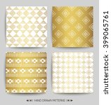 set of creative patterns with... | Shutterstock .eps vector #399065761