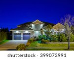 house at night in vancouver ... | Shutterstock . vector #399072991
