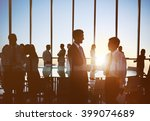 colleagues connection business... | Shutterstock . vector #399074689