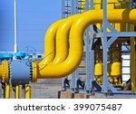 valves and piping  | Shutterstock . vector #399075487