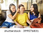 mother daughter happiness... | Shutterstock . vector #399076831