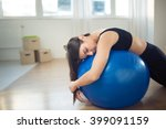 disappointed fitness woman... | Shutterstock . vector #399091159