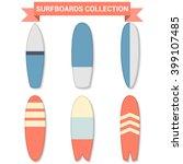vector retro surfboards... | Shutterstock .eps vector #399107485