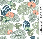 exotic tropical seamless... | Shutterstock .eps vector #399111247