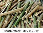 bamboo sticks in a heap | Shutterstock . vector #399112249