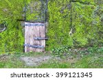 Small Wooden Door In A Stone...