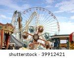 amusement park rides | Shutterstock . vector #39912421