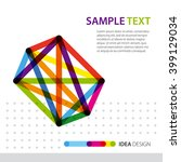 abstract background template.... | Shutterstock .eps vector #399129034