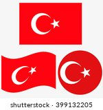 turkey flag set | Shutterstock .eps vector #399132205
