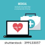 medical and cardiology design | Shutterstock .eps vector #399133057