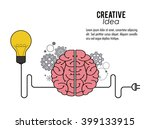 creative mind and idea icon... | Shutterstock .eps vector #399133915