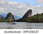 krabi river with a sailing... | Shutterstock . vector #399158137