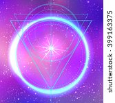 sacred geometry forms on space... | Shutterstock .eps vector #399163375