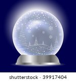 christmas vector snow globe | Shutterstock .eps vector #39917404