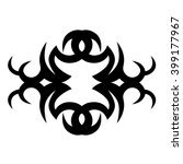 tattoo tribal lower back vector ... | Shutterstock .eps vector #399177967