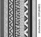 native american doodle. textile ... | Shutterstock .eps vector #399184801