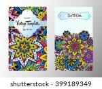 vintage card. wedding... | Shutterstock .eps vector #399189349
