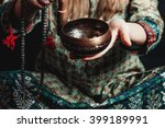 tibetan singing bowl in the... | Shutterstock . vector #399189991