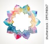flower oriental frame.... | Shutterstock .eps vector #399198067
