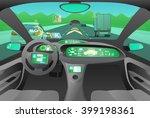 automobile cockpit  various... | Shutterstock .eps vector #399198361