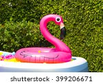 inflatable pool with flamingo...   Shutterstock . vector #399206671