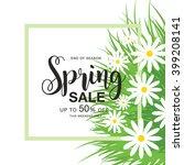 spring sale poster | Shutterstock .eps vector #399208141