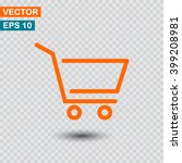 shopping cart icon vector | Shutterstock .eps vector #399208981