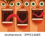 facial expressions. vector... | Shutterstock .eps vector #399213685