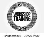 workshop training circle word...   Shutterstock .eps vector #399214939