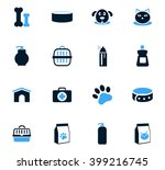 goods for pets icon set for web ... | Shutterstock .eps vector #399216745