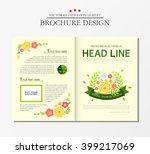business brochure  floral. | Shutterstock .eps vector #399217069