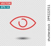 eye  linear icon. one of a set...