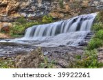 HDR (High Dynamic Range) image of Willow River State Park Waterfall.