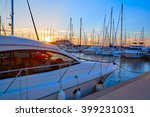 Denia Sunset In Marina Boats A...
