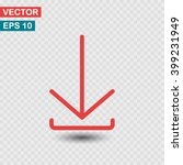 download  linear icon. one of a ...