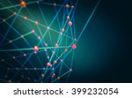 abstract polygonal space low... | Shutterstock . vector #399232054